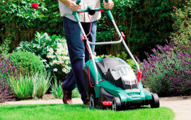 Cordless-electric-lawnmower