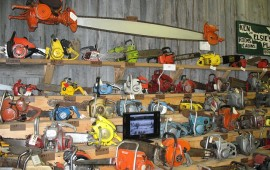 Chainsaws in a Shed