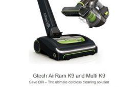 GTech AirRam K9 + Multi K9 Package Deal Offer