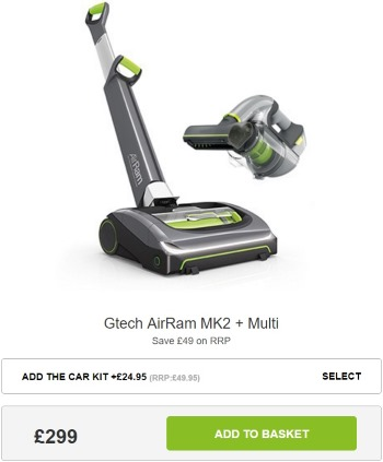 GTech AirRam + Multi Package Deal