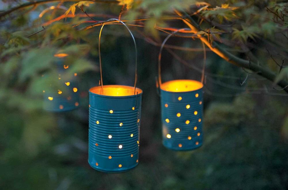 Home Made Garden Lanterns