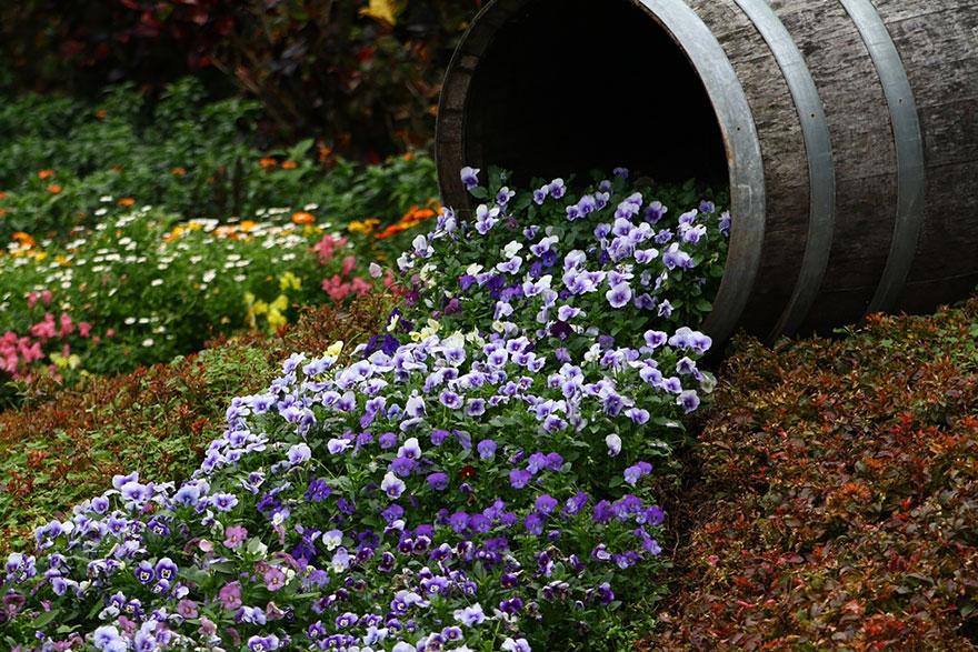 Spilled Flower Barrel