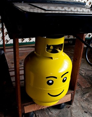 Pained Gas BBQ Cannister