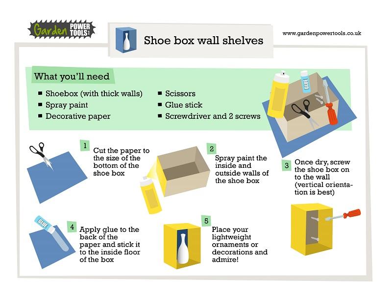 Create DIY Shelf from Shoe Box