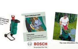 Bosch AXT 2200 and 2000 Rapid Shredders