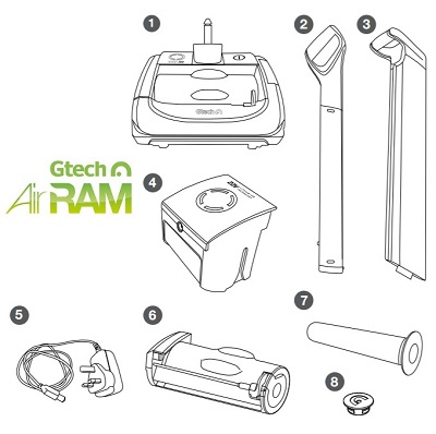 Gtech Airram Cordless Electric Vacuum Cleaner on 4 way switch