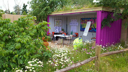 Shipping Container in the Garden