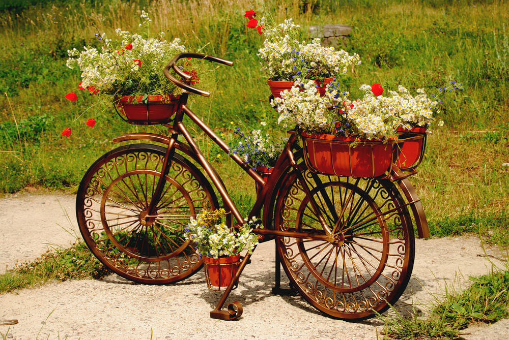 Bicycle Flower Planters