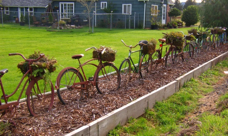 Rusty Bike Fence