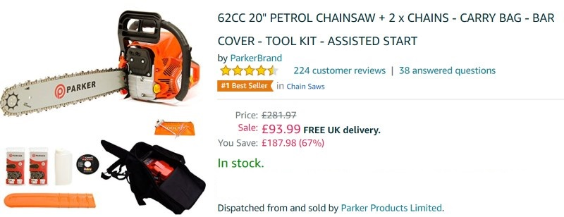 Parker Chainsaw 62CC