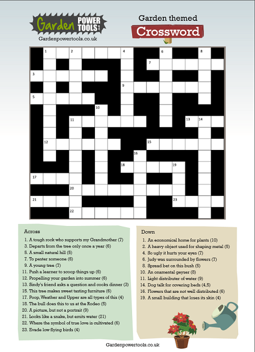 gardeners crossword