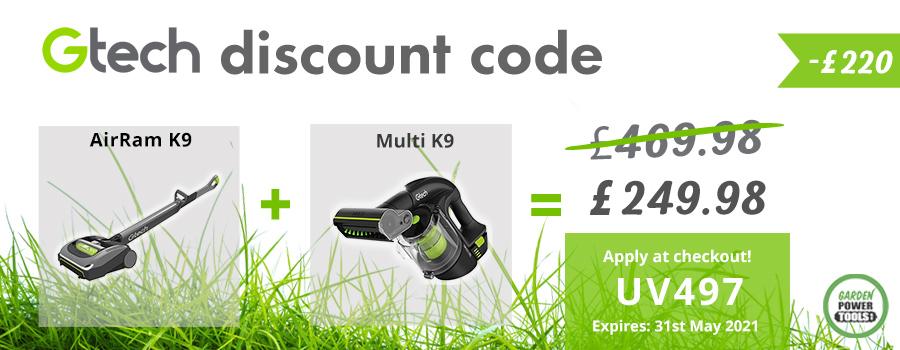GTech AirRam and Multi K9 Discount Code