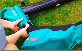 Bosch leaf blower and vacuum safety