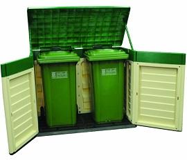 double Plastic Bin Store