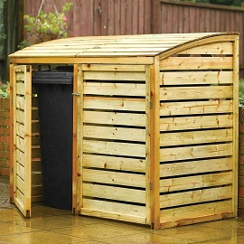Double Wood Bin Store