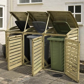 Single Wooden Bin Store