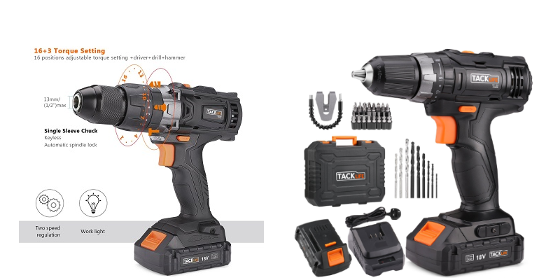 New Tacklife 18V Cordless Drill Set In-Depth Review
