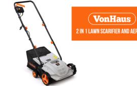 VonHaus 2 in 1 Lawn Scarifier and Aerator