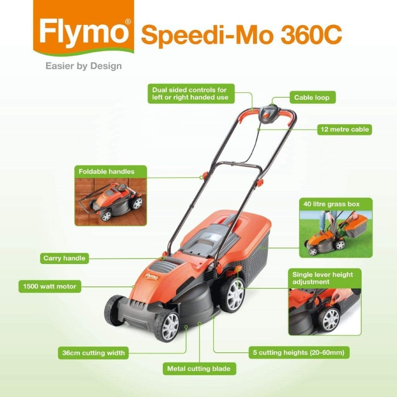 Flymo Speedi-mo Features