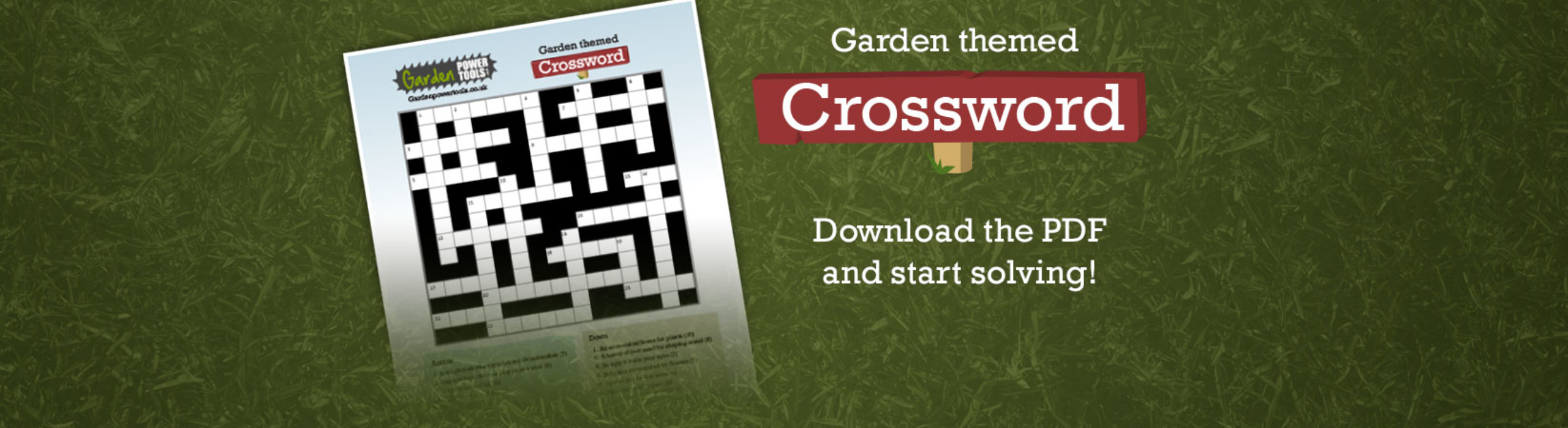 Garden Themed Crossword