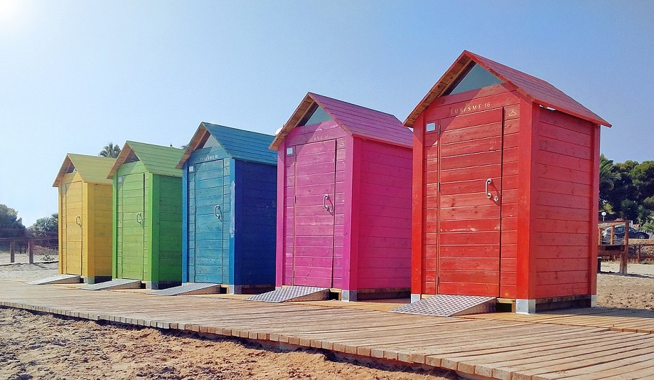 Beautiful Beach Sheds