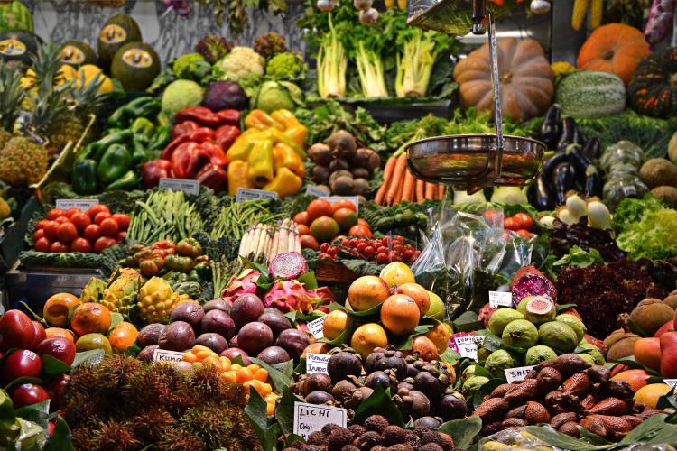 Market Stalls Selling Fruit and Veg