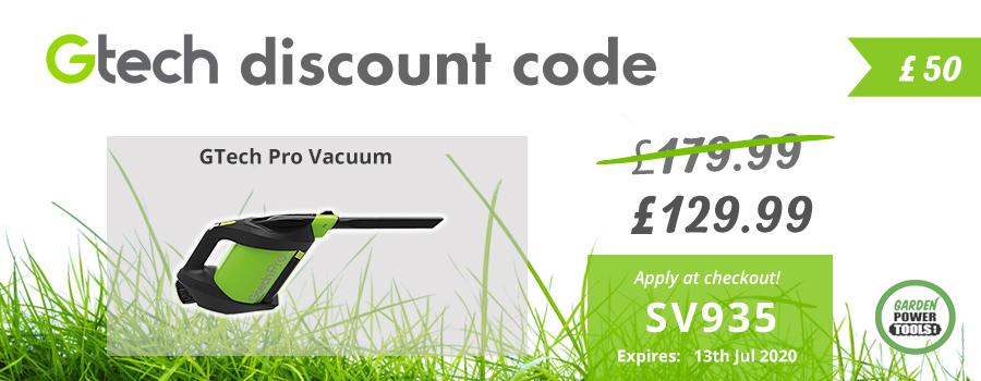 GTech Pro Vacuum Cleaner Discount Code