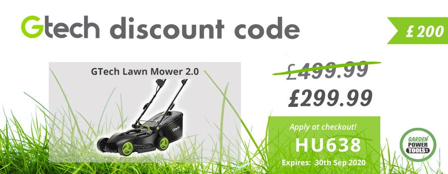 GTech Lawn Mower Discount Code