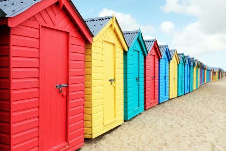 Beautiful Beach Hut Painted Colourfully
