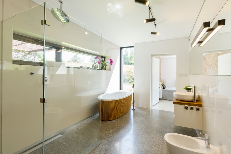 Beautiful eco-friendly bathroom