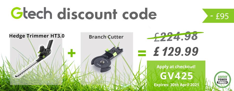 GTech Hedge Trimmer Discount Code Feb 2021