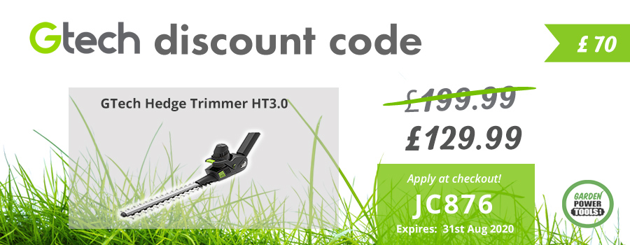 GTech Hedge Trimmer Discount Code