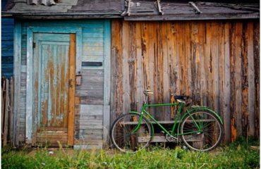 Old rusting metal shed
