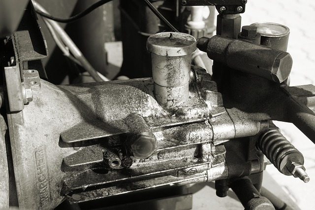 Black and white air compressor