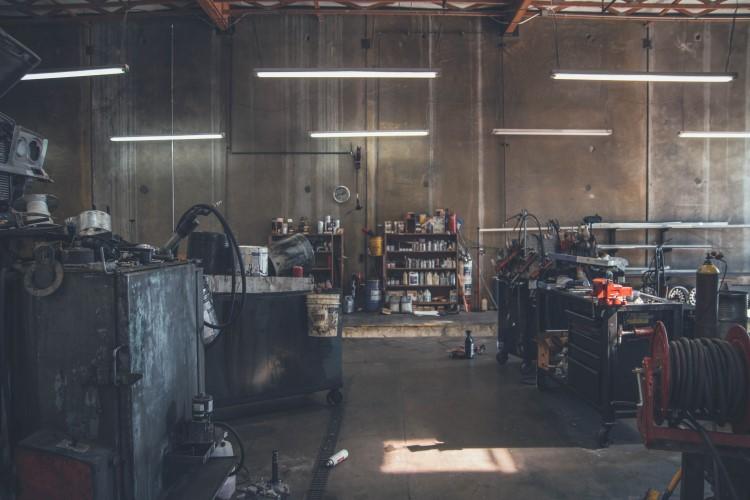 Old workshop setting