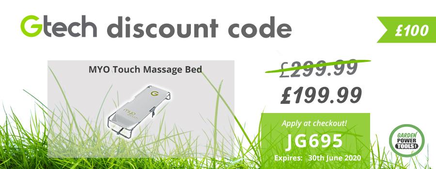 GTech Massage Bed Discount Code
