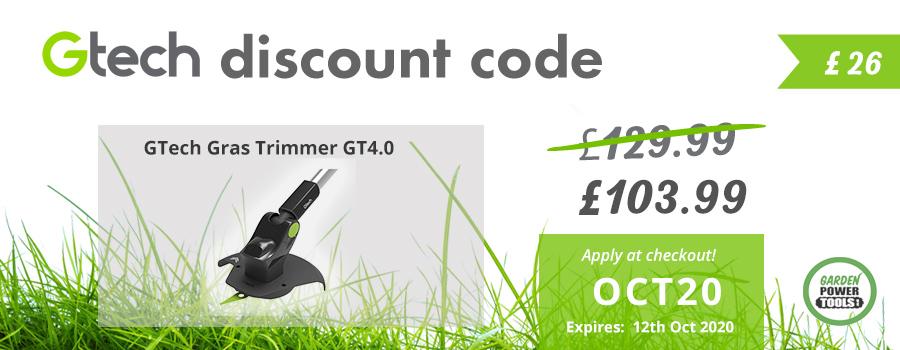 GTech Grass Trimmer Discount Code