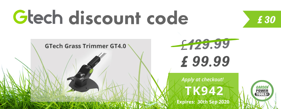 GTech Grass Trimmer Discount Code