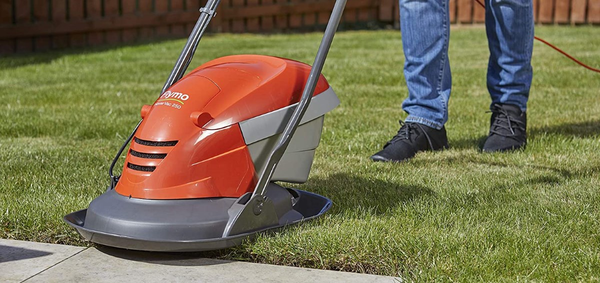 Flymo Hover Vac 250 Cutting Grass