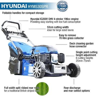 Hyundai HYM530SPR lawn mower features
