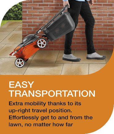 Easy transportation of Mower