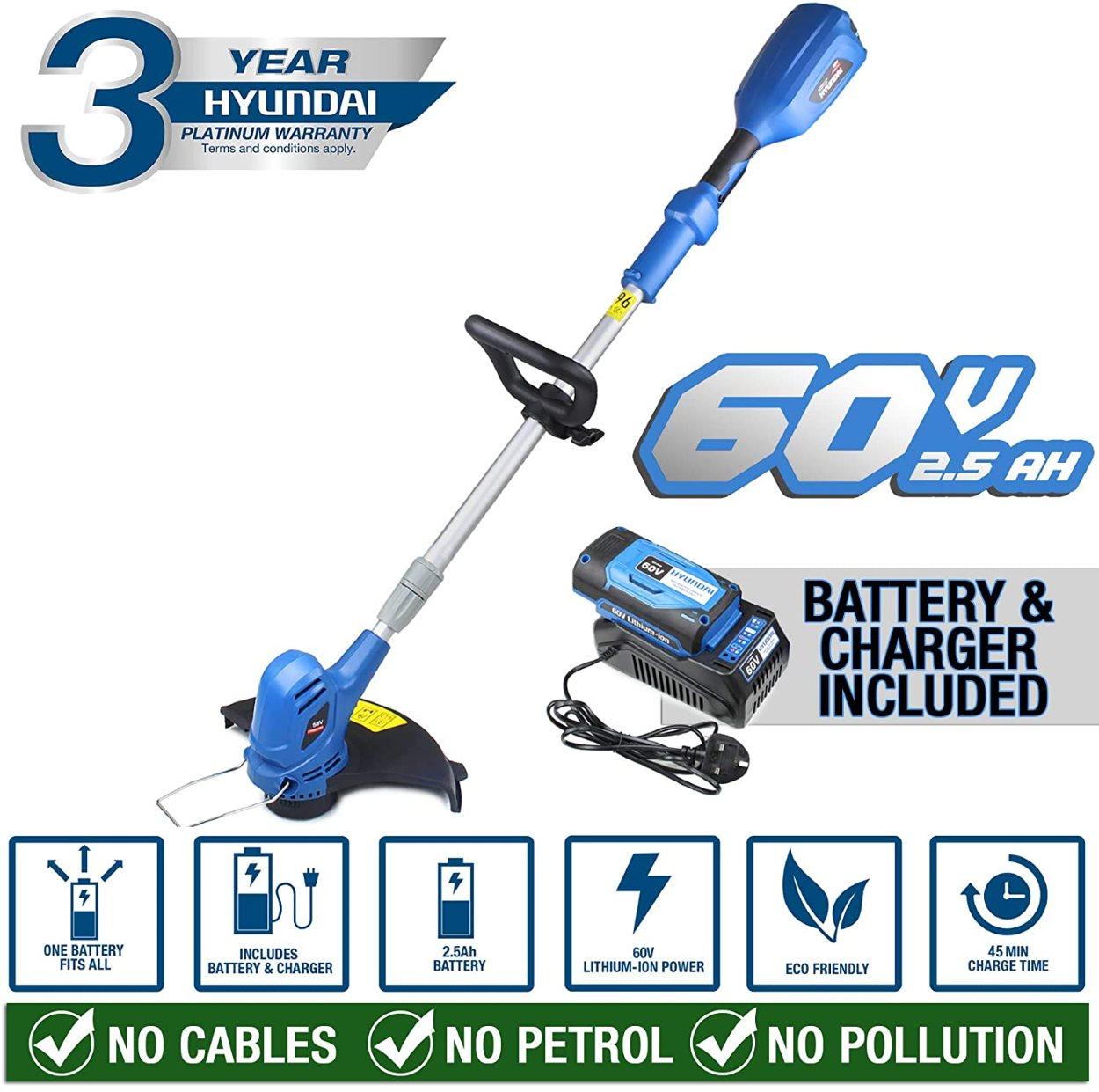 Hyundai 60V Grass Trimmer Key Features