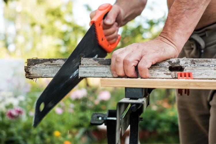 Cutting through wood