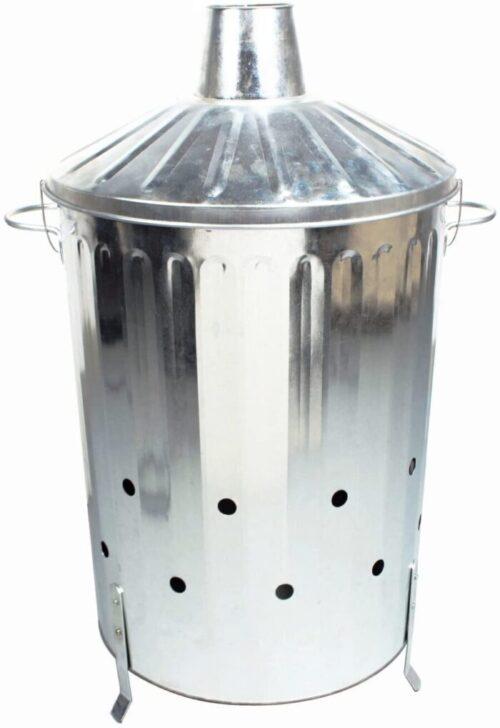 CrazyGadget® 90 Litre 90L Extra Large Galvanised Metal Incinerator