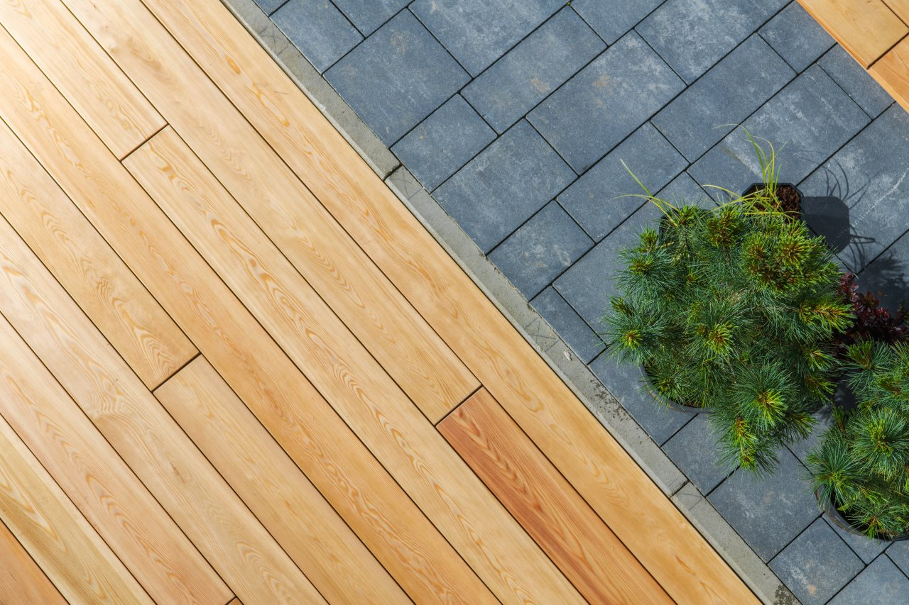 Concrete and Wood Decking