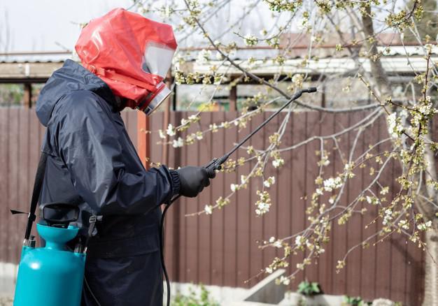 Man in PPE in Garden