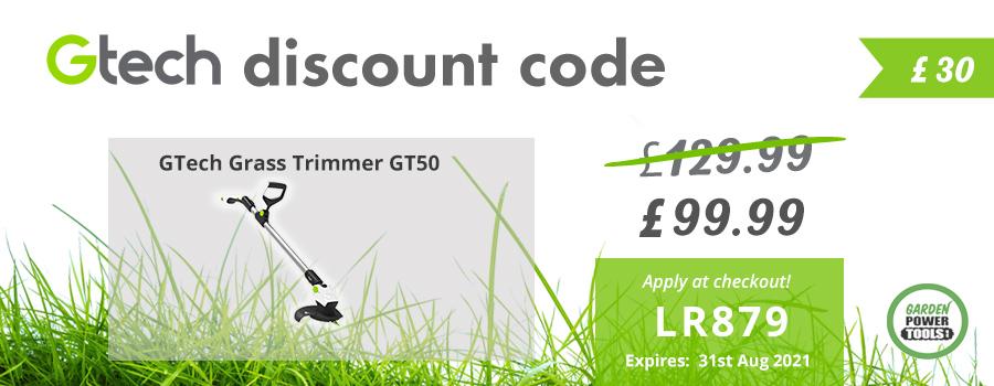 GTech Grass Trimmer GT50 Discount Code