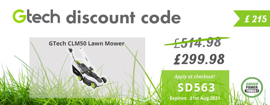 GTech Mower Discount Code CLM50